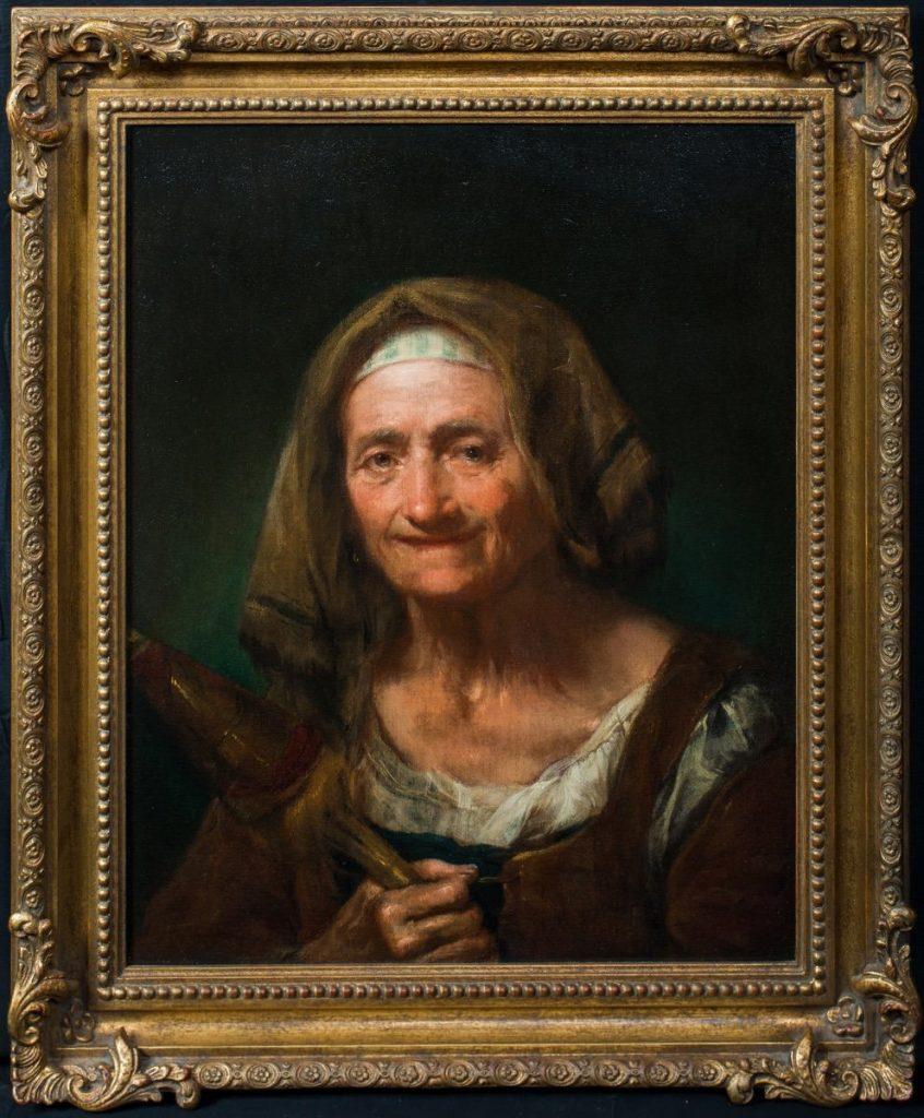 Portrait d'Une Femme âgée, XVIIIe Siècle, Par Giuseppe Nogari (1699-1763)